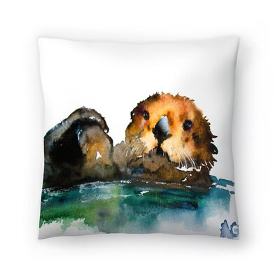 Otter Throw Pillow Size: 14 x 14