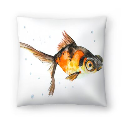 Fancy Goldfish Throw Pillow Size: 14 x 14