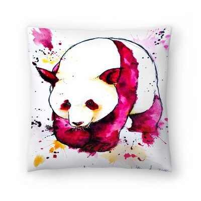 Panda Bear Throw Pillow Size: 16 x 16