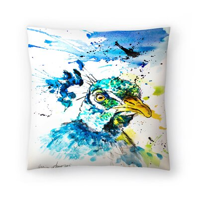 Peacock Throw Pillow Size: 14 x 14