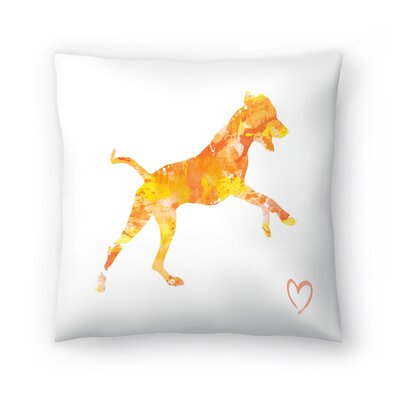 Rhodesian Ridgeback Throw Pillow Size: 14 x 14