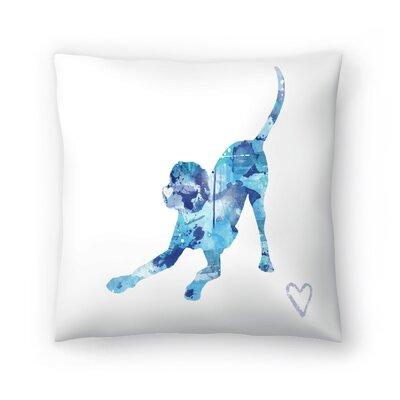 Playful Lab Throw Pillow Size: 20 x 20
