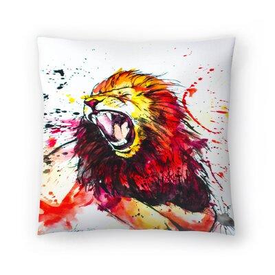 Roaring Lion Throw Pillow Size: 16 x 16
