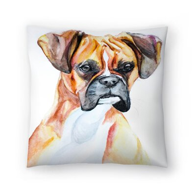 Fawn Boxer Throw Pillow Size: 14 x 14