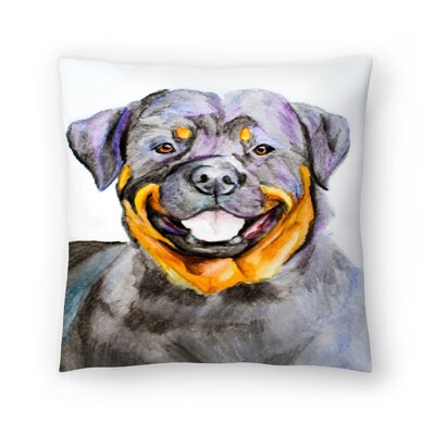 Rottweiler Throw Pillow Size: 18 x 18