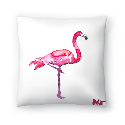 Flamingo Throw Pillow Size: 16 x 16