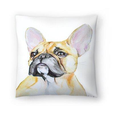 French Bulldog Throw Pillow Size: 18 x 18