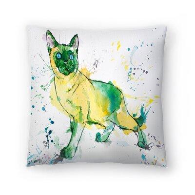 Siamese Cat Throw Pillow Size: 18 x 18