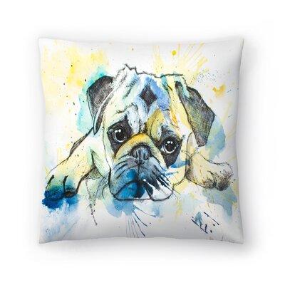 Pug Throw Pillow Size: 16 x 16