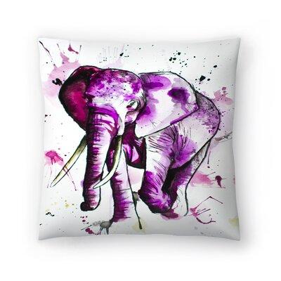 Elephant Throw Pillow Size: 18 x 18