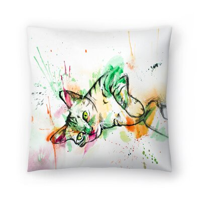 Tabby Cat Throw Pillow Size: 20 x 20