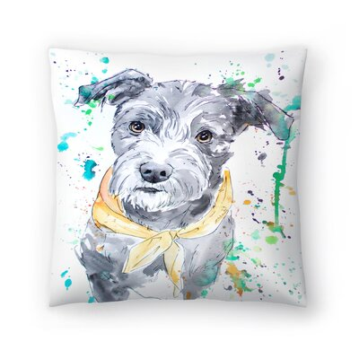 Terrier Throw Pillow Size: 18 x 18