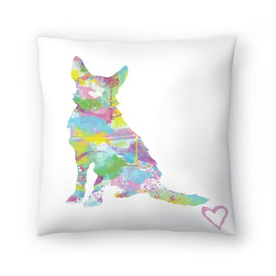 German Shepherd Throw Pillow Size: 18 x 18