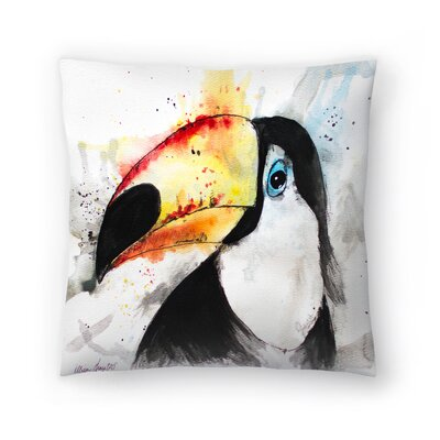 Toucan Throw Pillow Size: 16 x 16