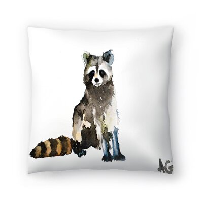 Raccoon Throw Pillow Size: 18 x 18