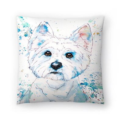 West Highland Terrier Throw Pillow Size: 14 x 14