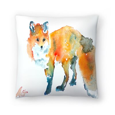 Fox Throw Pillow Size: 18 x 18