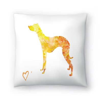 Whippet Silhouette Throw Pillow Size: 20 x 20