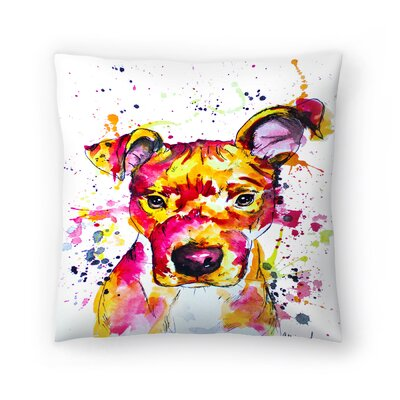 Puppy Throw Pillow Size: 18 x 18
