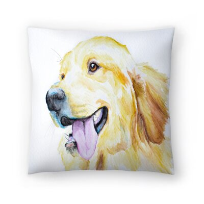 Golden Retriever Throw Pillow Size: 16 x 16