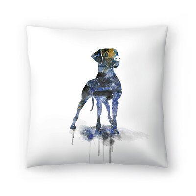 Great Dane Throw Pillow Size: 14 x 14