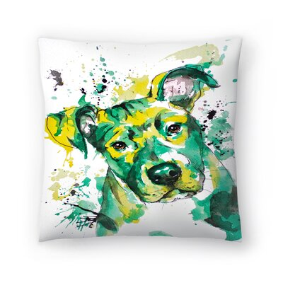 Puppy Throw Pillow Size: 14 x 14