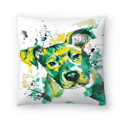 Puppy Throw Pillow Size: 18 x 18