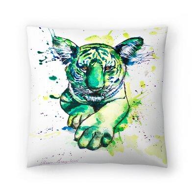 Tiger Throw Pillow Size: 16 x 16