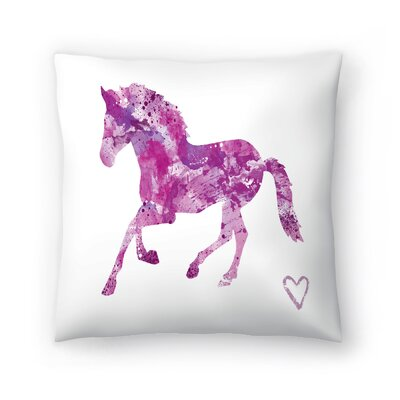 Horse Silhouette Throw Pillow Size: 18 x 18