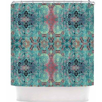 Nina May Magi Mandala Stripe Shower Curtain