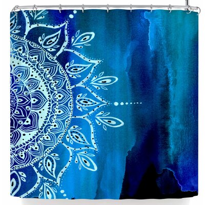Li Zamperini At Night Mandala Shower Curtain