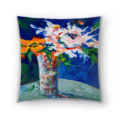 Sunshine Taylor Flowerpower II Indoor/Outdoor Throw Pillow Size: 16 x 16