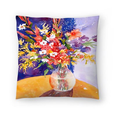 Sunshine Taylor Bursting Forth Indoor/Outdoor Throw Pillow Size: 18