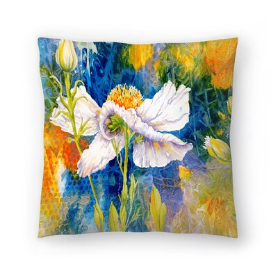 Sunshine Taylor Matilija Magic Indoor/Outdoor Throw Pillow Size: 18 x 18