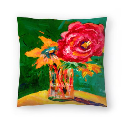 Sunshine Taylor Big Flower Indoor/Outdoor Throw Pillow Size: 18 x 18