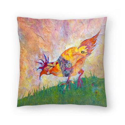 Sunshine Taylor Chicken Indoor/Outdoor Throw Pillow Size: 16 x 16