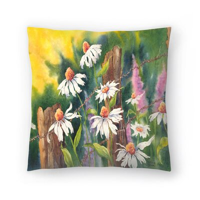 Sunshine Taylor Daisy Dance Indoor/Outdoor Throw Pillow Size: 14 x 14