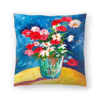 Sunshine Taylor Large Flower Vase Indoor/Outdoor Throw Pillow Size: 20 x 20