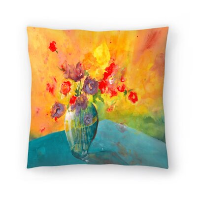 Sunshine Taylor Large Vase Indoor/Outdoor Throw Pillow Size: 16 x 16