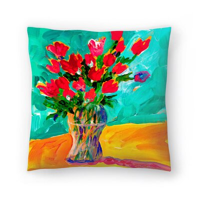 Sunshine Taylor Roses Indoor/Outdoor Throw Pillow Size: 14 x 14