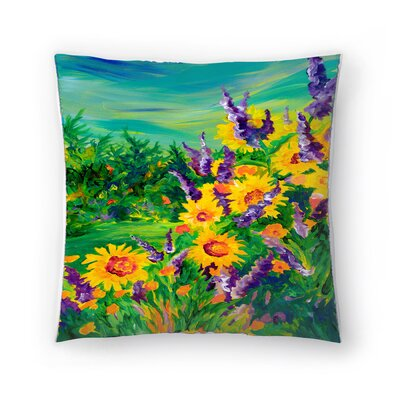 Sunshine Taylor Sunflower Fields Forever Indoor/Outdoor Throw Pillow Size: 16 x 16