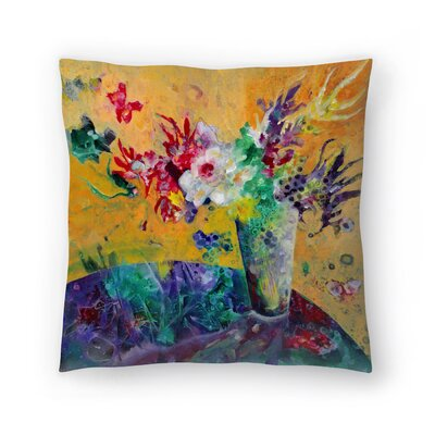Sunshine Taylor Flowers of Joy Indoor/Outdoor Throw Pillow Size: 20 x 20