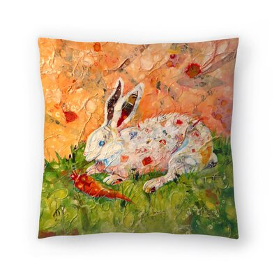 Sunshine Taylor Bunny Indoor/Outdoor Throw Pillow Size: 14 x 14
