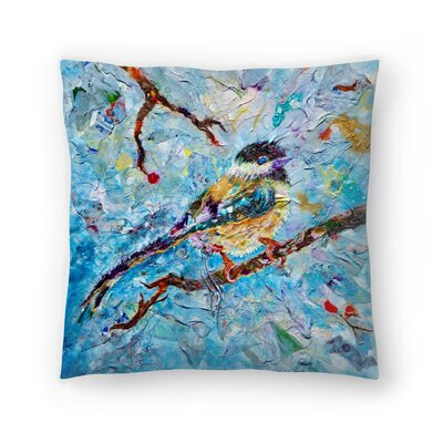 Sunshine Taylor Chickadee Indoor/Outdoor Throw Pillow Size: 14 x 14