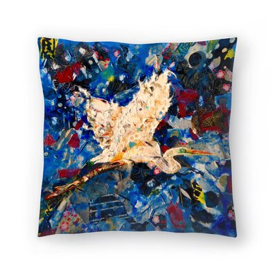 Sunshine Taylor Egret Indoor/Outdoor Throw Pillow Size: 20 x 20