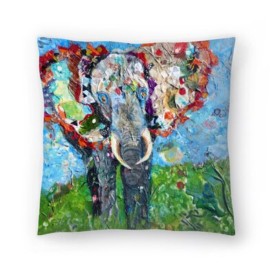 Sunshine Taylor Elephant Indoor/Outdoor Throw Pillow Size: 14 x 14