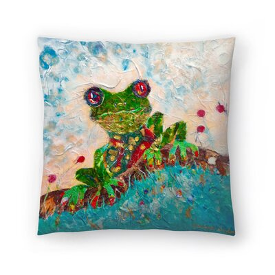 Sunshine Taylor Frog Indoor/Outdoor Throw Pillow Size: 18 x 18