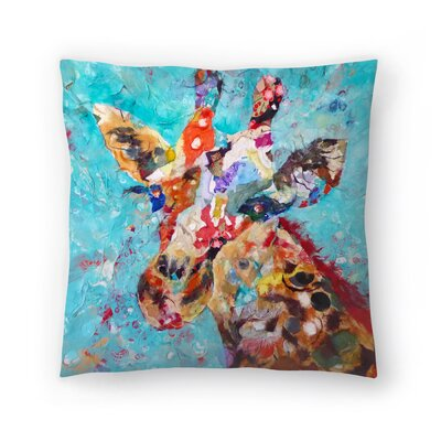 Sunshine Taylor Giraffe Indoor/Outdoor Throw Pillow Size: 16 x 16