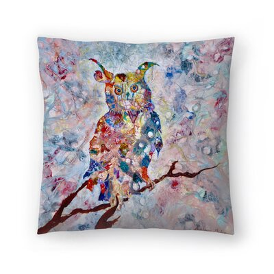 Sunshine Taylor Horned Owl Indoor/Outdoor Throw Pillow Size: 14 x 14