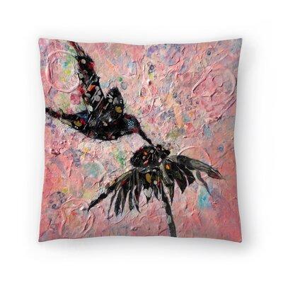 Sunshine Taylor Hummingbird Indoor/Outdoor Throw Pillow Size: 18 x 18